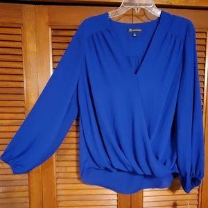 NWT INC  Internatonal concepts brought blue blouse